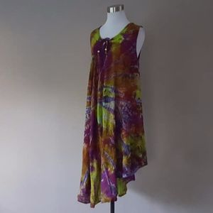Tie Dye Dress Medium Sleeveless